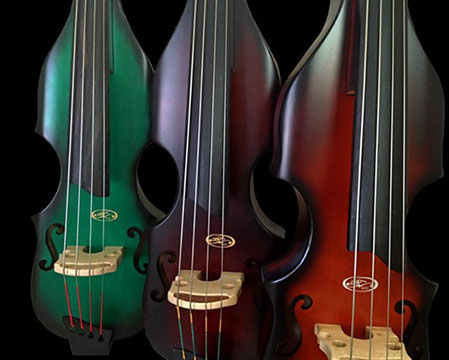 A row of bsx bass alllegro basses
